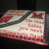 Jay's Graduation Cake grad party cake for a kid who went to the same high school i did and is now going to my alma mater, so i was especially excited to include...