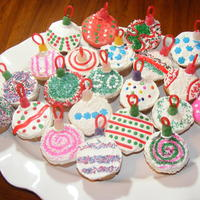 Ornament Cupcakes idea from Hello Cupcake.