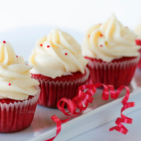 Red Velvet Cupcakes Traditional red velvet cupcakes with cream cheese icing
