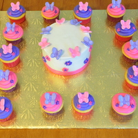 Butterfly Cupcakes client wanted butterfly cupcakes with pink and purple coloring