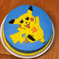 Pikachu Pikachu cake in buttercream