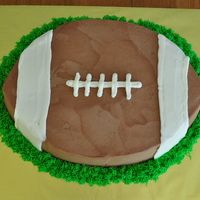 Football Groom's Cake Football shaped cake