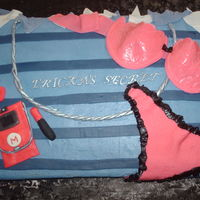 Shopping Bag Cake   panties & bra are made of gumpaste,the rest accesories are fondant,TFL ;)