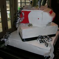 Side View This is just a side view. The ice is rock candy. All decorations on the ice chest are made from fondant.