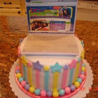"Icarly Laptop Cake This little girl's birthday party theme was ""iCarly"" (a show on Nickelodeon). I made the laptop out of gumpaste and affixed..."