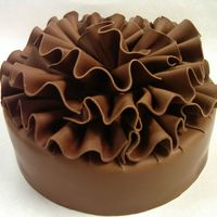 Chocolat   chocolate mousse cake covered in choc plastic