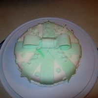 "Working With Fondant - 2008-12-23 Intro to Fondant. I added Kelly Green to White Fondant for a Marblized Effect, so the ""lines"" are intended and actually looked a..."