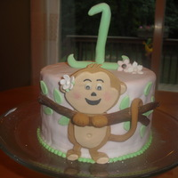 Girly Monkey Cake I made thiis small monkey cake for my youngest niece on her 1st birthday. You can see a lot of lumps and bumps on the cake because I spent...