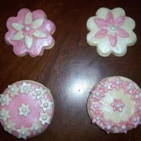 Valentine Cookies   NFSC decorated with White Chocolate Clay, edible pearls and luster dust!