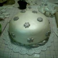 Snowflake   I had fun with my friends making this fondant cake and one other right before Christmas!