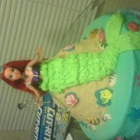 Mermaid Cake  This was my first real attempt at cake decorating. I made this for my granddaughter's fourth birthday party. I had such fun making it...