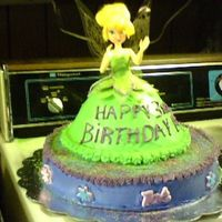 Tinkerbell Cake  This was my first real attempt at decorating a doll cake for my granddaughter's third birthday last year. Not too bad for a beginner!...