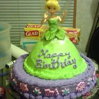Tinkerbell #2 Just another Tinkerbell cake. My daughter asked me to bake this one for her co-worker's three-year old daughter. This time, though, I...