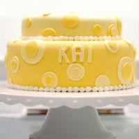 Yellow Dots Cake