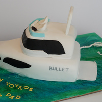 Bon Voyage Yacht Cake Organic carrot cake with cream cheese swiss meringue buttercream frosting.