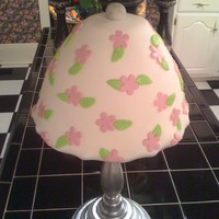 Lamp Cake strawberry cake with butter-cream icing covered with mmf