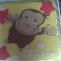 Curious George Butter flavored cake, buttercream and fondant