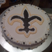 The Saints - For Superbowl Quick cake for the Saints going to the superbowl. I am a STEELERS fan, but family requested this cake, so I broke down and did it. Usually...