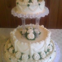 Emily Italian cream cake. A bit old fashioned but is what the bride wanted.