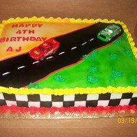 Cars Theme Cake   this is my take on a cars theme cake... TFL