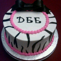 Hot Pink/zebra Birthday Cake