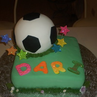 Soccer B-Day Cake My Little sister play soccer and create this cake for her , this is my 1rst 3 D Soccer Ball Cake, 2 flavors Cream cheese cake and marble...