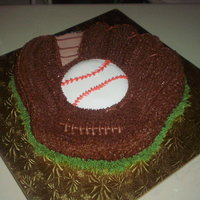 "Baseball Glove B-Day Cake Almond "" Ponque"" and buttercream. Rolled Fondant details. This cake was very special clients, they always have given me..."