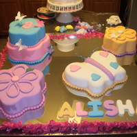 Flower And Butterfly Cake Almond ponque, rolled fondant all cake's and details in pastillage. I love this cake and the butterfly. Mom's friend daughter b-...