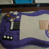 Hannah Montana Guitar Cake This is just not the finished version...I fixed what I could to make the arm appear like part of the cake. You can see that I have never...