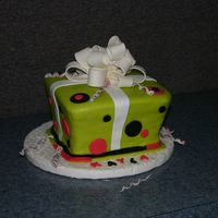 Img_0922.jpg 8X2 in squares X3 stacked. First time I have made MMF. My granddaughter wanted lime green with hot pink and black accents. She absolutely...