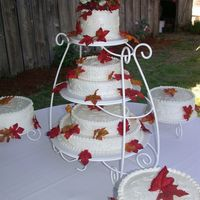 Fall Wedding Cake This is the third wedding cake I made for a friend's early fall wedding.