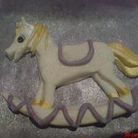 Rocking Horse Part Of Carousel Cake. This was part of a carousel cake. Its Fondant with CMC which I believe makes Gumpaste? I think thats right! I think Im hooked on making...
