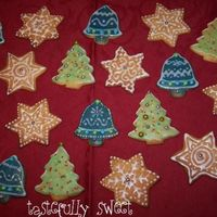 Christmas Cookies My first attempt at decorated cookies.