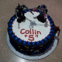 Little Boy's Superhero Birthday Cake   cake done in bc, decorated with superhero figurines