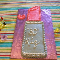 30Th Birthday Cake   cutout cake done in bc