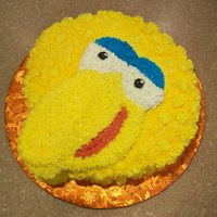 Big Bird Cake   cutout cake done in bc