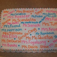 Teacher Appreciation Cake   sheet cake done in bc