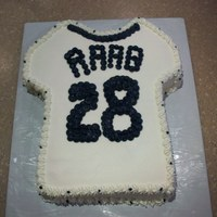 Baseball Jersey Birthday Cake Cutout cake done in bc