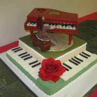 Ragedy Ann And Piano My daughters 21st birthday cake.