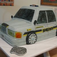 "Sherriff's Car Grooms Cake This grooms cake was red velvet cake and decorated with fondant. It was carved and measured 12""x20"". It was lots of fun to make..."