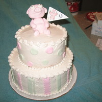 Stripes And Polka Dots With Fondant Pig