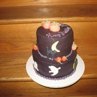 Halloween Cake Fondant pumpkins, cats and ghosts