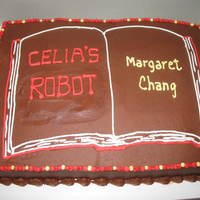 Open Book Sheetcake Made for a book publishing