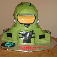 Halo My first carved cake! Its made out of all cake and fondant =) I hope I did this game justice!