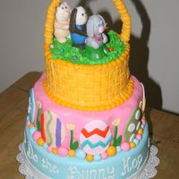 Do The Bunny Hop!   A fun Easter Cake =) Everything is done with fondant.