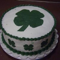 St. Patty Clover Cake This is a chocolate/cinnamon cake with buttercream icing.