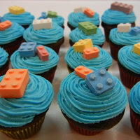 Mini Lego Cupcakes candy lego topped cupcakes