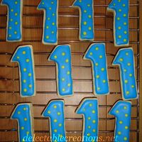 Number 1 Cookies Number 1 cookies with royal icing