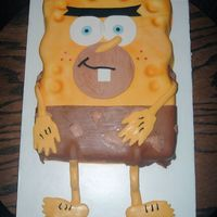 Spongebob/spongegar;-) spongebob/spongegar caveman episode;-) All edible;-) All Fondant. Thanks for looking!