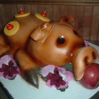 Luau Pig Cake This was a donation for my daughters girl scouts. I have always wanted to do one and they were having a Luau party and I thought this would...